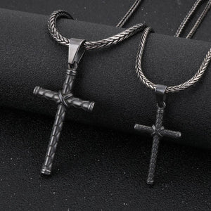 Stainless Steel Vintage Cross Pendant Necklace