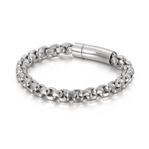 Stainless Steel Vintage Charm Link Chain Bracelet