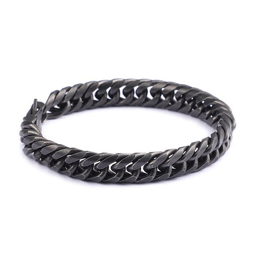 Men's Stainless Steel Retro Black Bracelet
