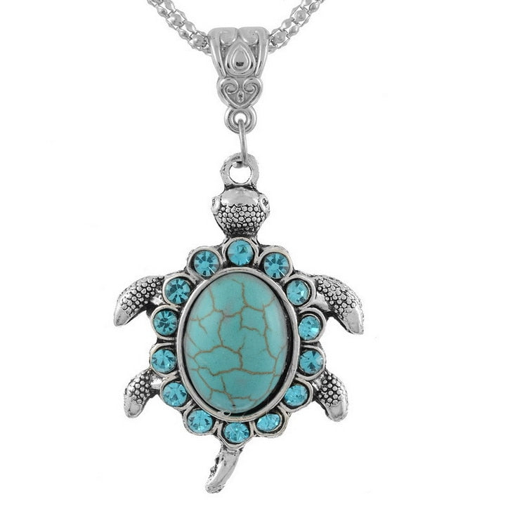 Blue Turtle Pendant Necklace - Innovato Store