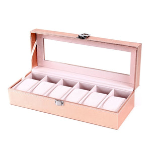 PU Leather Wrist Watch Storage Box & Case