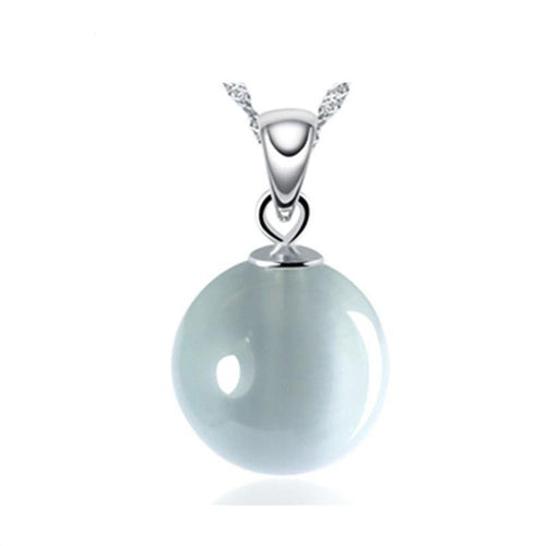 Cat's Eye Pendant 925 Sterling Silver Korean Charm Necklace