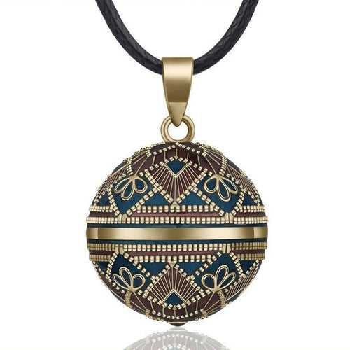 Vintage Design Mexican Harmony Chime Bola Pendant Necklace