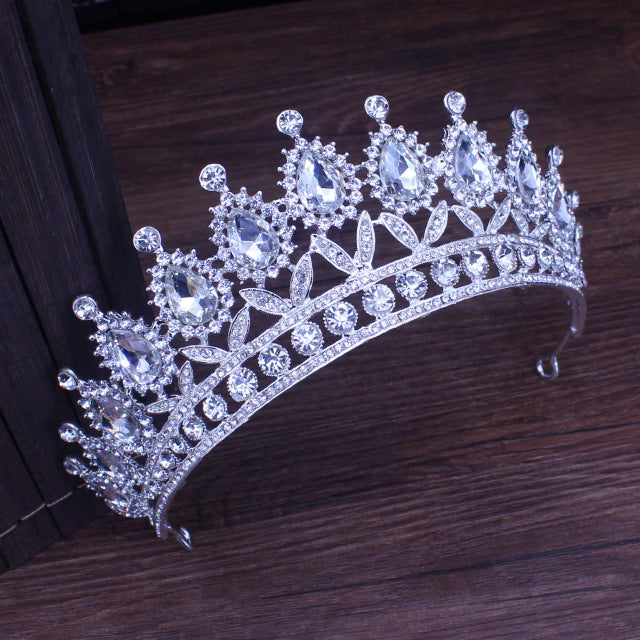 Queen Rhinestones & Crystals Baroque Wedding, Prom Tiara