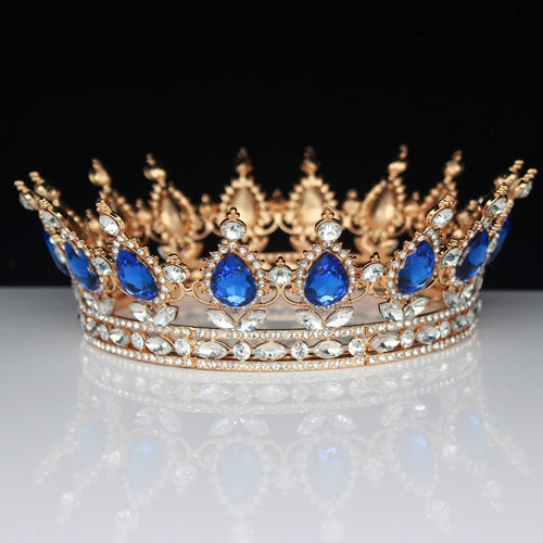 Royal King and Queen Rhinestone Vintage Baroque Wedding, Prom Crown