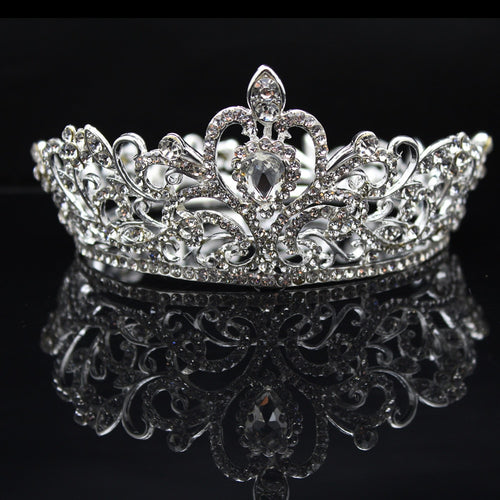 Queen & King Rhinestone Luxury Bridal, Pageant Crown
