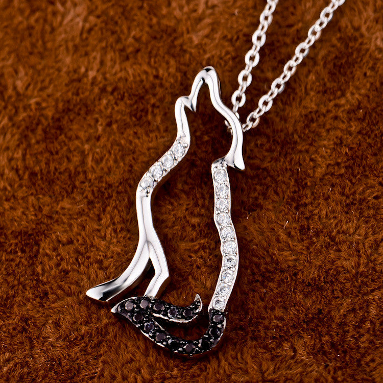925 Sterling Silver Cubic Zirconia Wolf Necklaces & Pendants - Innovato Store