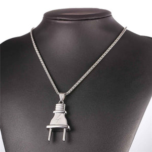 Electric Plug Design Hiphop Rope Chain Pendant Necklace
