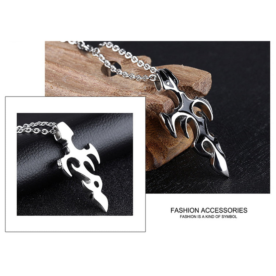 Men's Sword Gothic Stainless Steel Necklace