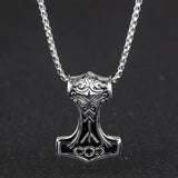 Thor's Hammer Rock Style Viking Pendant Necklace