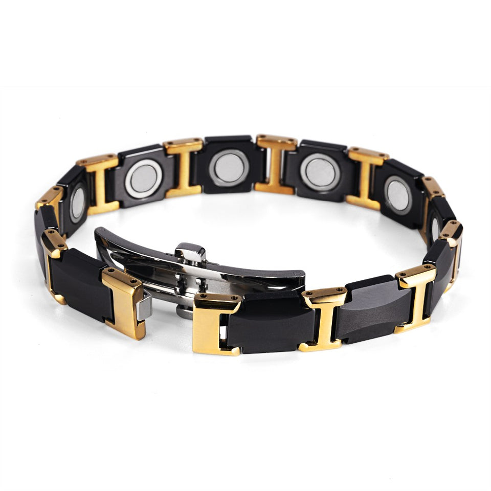 Black Ceramic Tungsten Steel Magnetic Bracelet