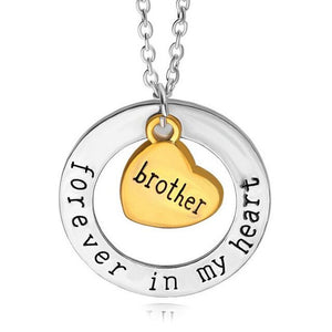 Gold and Silver Family Pendant Necklace