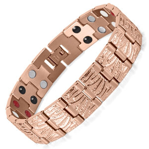 Gold Plated Germanium Magnetic Stainless Steel Bracelet