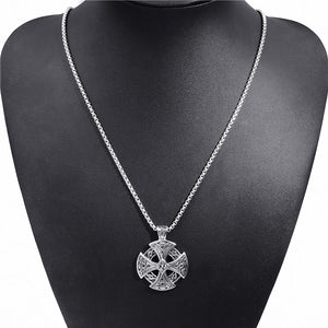 Stainless Steel Black Cross Pendant Necklace