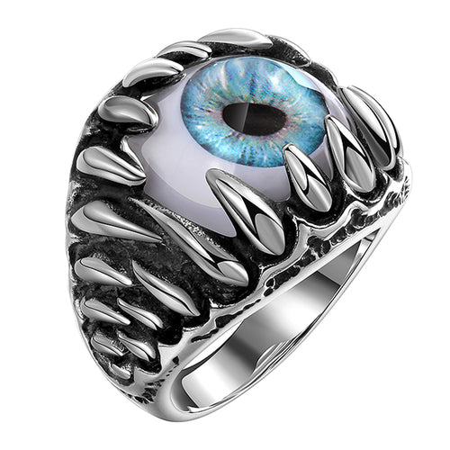 Dragon Teeth Evil Eye Men's Stainless Steel Ring - Innovato Store