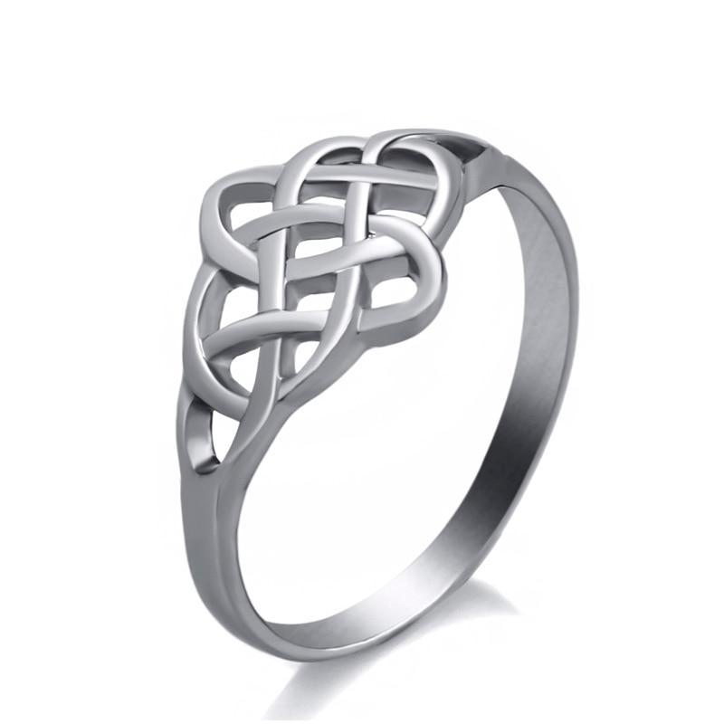 Celtic Knot Stainless Steel Fashion Irish Pattern Ring for Women Ring - Innovato Store