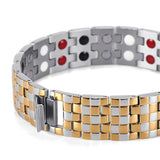 Double Row Stainless Steel Magnetic Bracelet