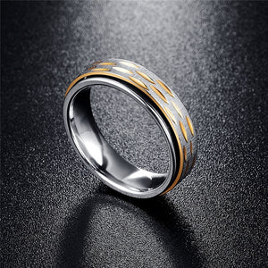 Gold Plated Spinner Stainless Steel Men's Rings - Innovato Store