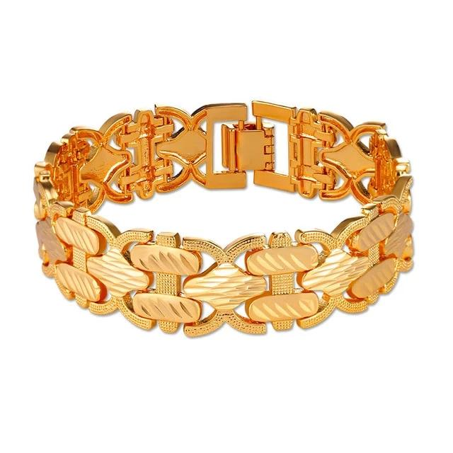 Gold Hand Chain Big Bracelet Bangle for Women