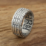 925 Sterling Silver Yin and Yang Vintage Spinner Ring for Men and Women - Innovato Store
