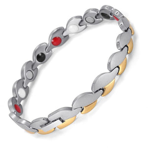 Silver & Black Luxury Ladies Magnetic Bracelet