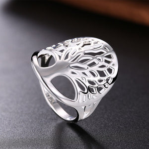 Silver Plated Silver Tree of Life Ring