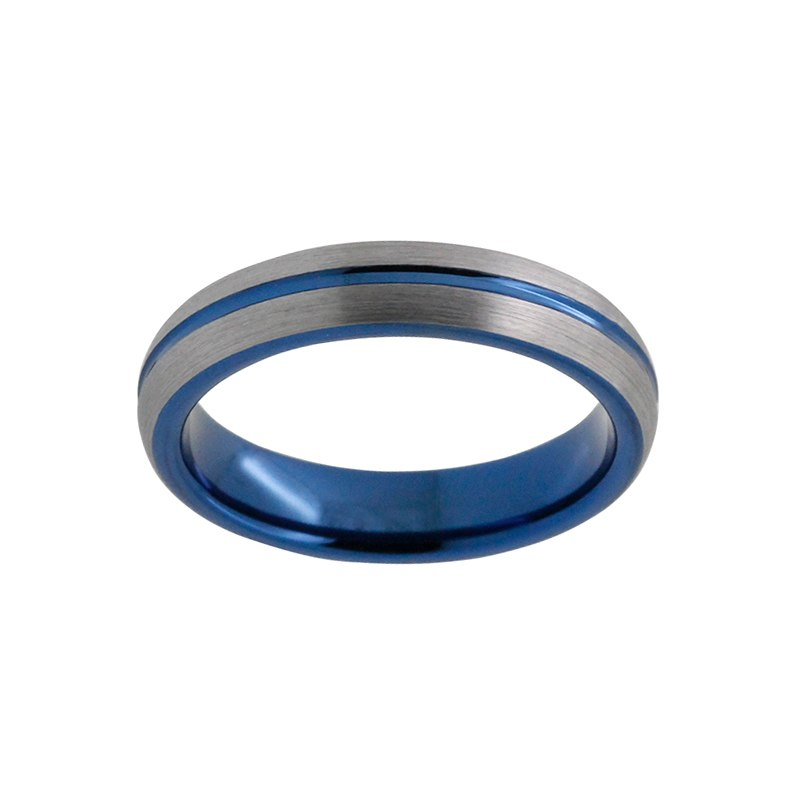 4mm Pretty Blue Plated Tungsten Ring for Women - Innovato Store