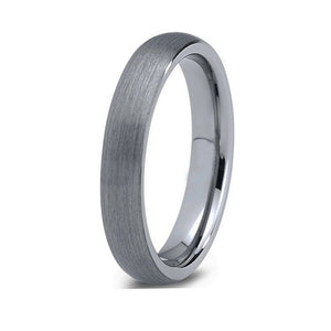 Feminine Silver Coated Brushed Tungsten Engagement Ring - Innovato Store