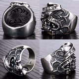 925 Sterling Silver Gothic Skull Ring for Men - Innovato Store