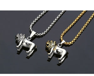 Stainless Steel HipHop Pug Dog Pendant Necklace For Men