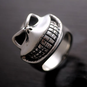 Laughing Skull 925 Sterling Silver Ring Men's Jewelry