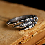 925 Sterling Silver Eagle's Paw Ring For Men and Women