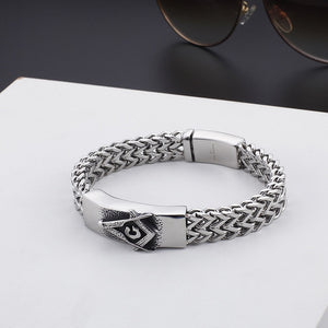 Large 316L Stainless Steel Masonic Bracelet
