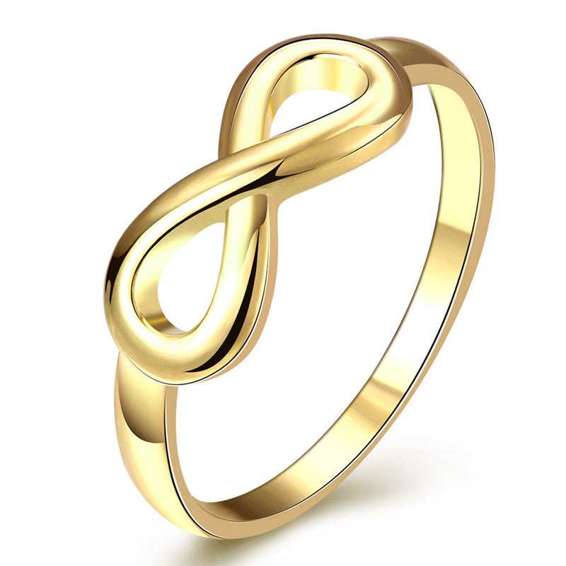 Gold & Silver Plated Infinity Women Wedding / Engagement Ring - Innovato Store