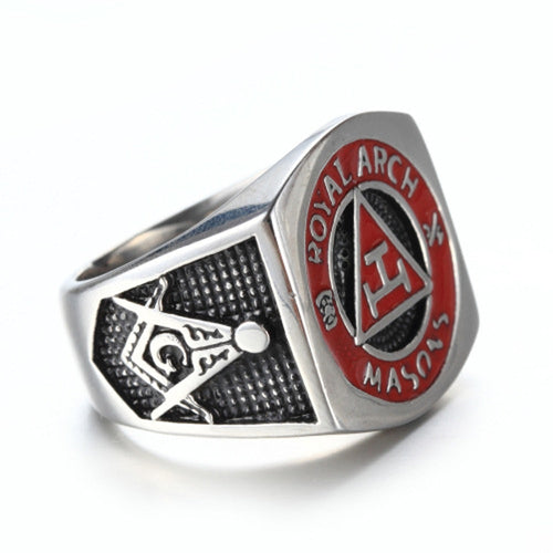 Royal Arch Freemason Stainless Steel Ring for Men