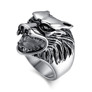 Classic Were Wolf Head Stainless Steel Ring for Men - Innovato Store