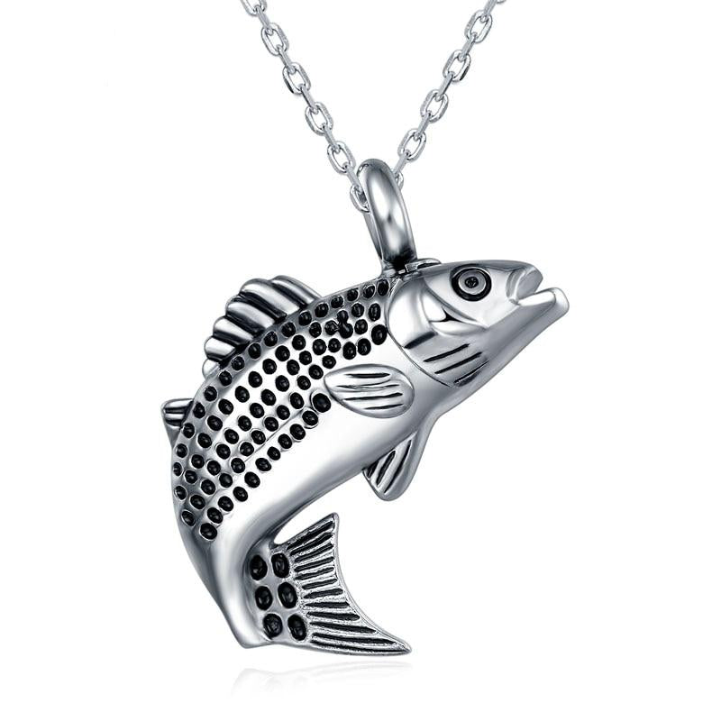 Trout Fish Shape Pendant Necklace Women's Necklace