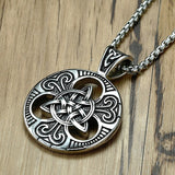 Stainless Steel Celtics Trinity Knot Pendant Necklace