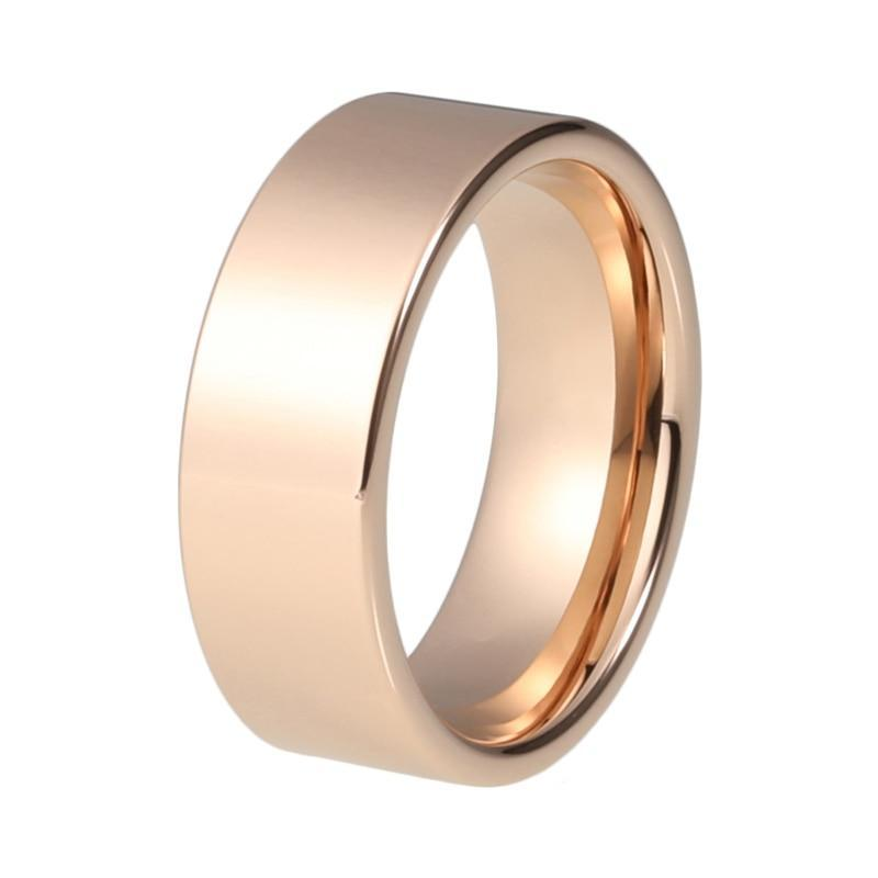 Plain - Polished Gold Plated Tungsten Carbide Wedding Ring