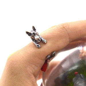 Adjustable German Shepherd Rings for Men and Women