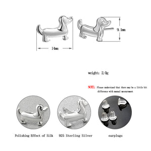 Lovely Dachshund Stud Earrings Teenage Girl's Jewelry