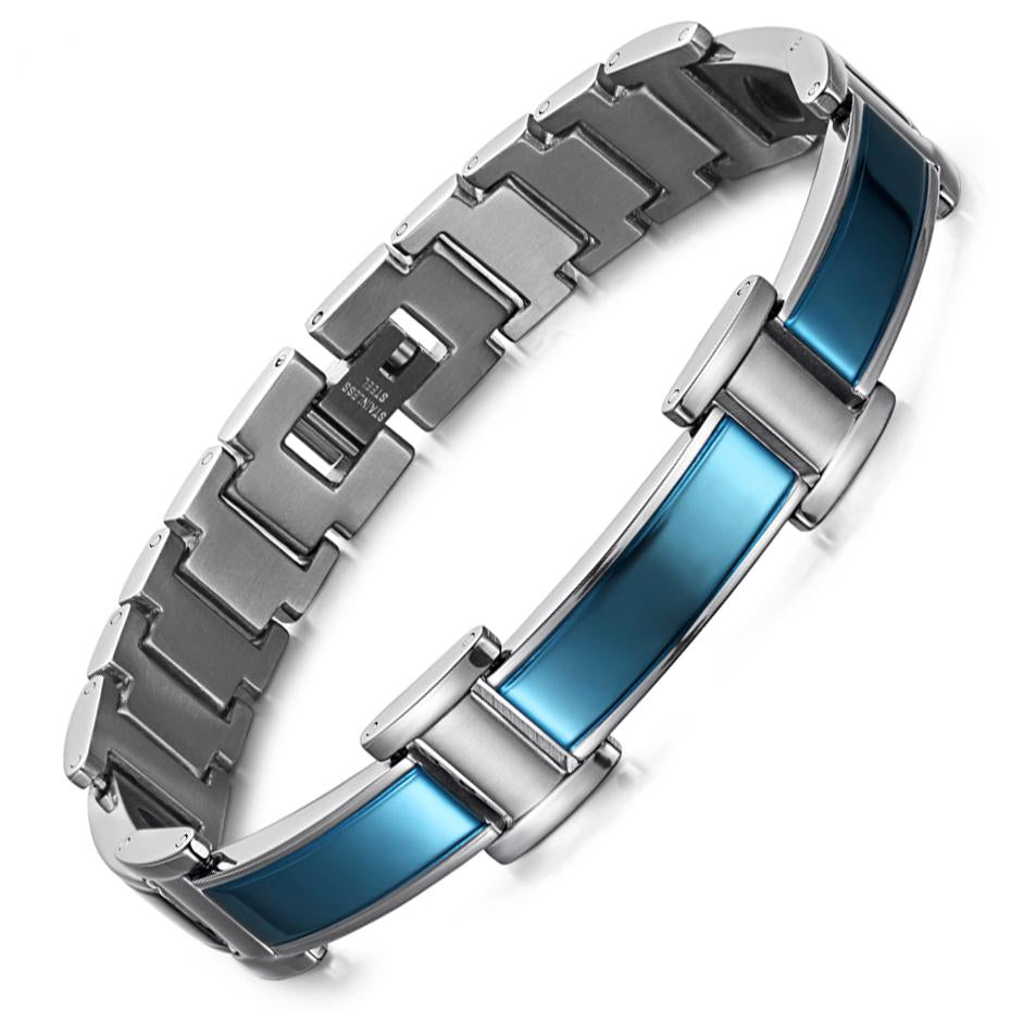 Innovato's Stainless Steel Multi-colour Magnetic Bracelet