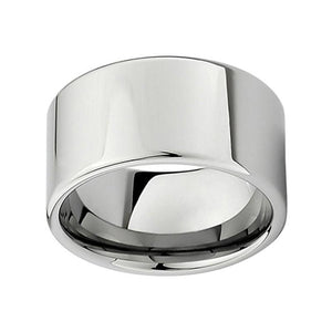 12mm Large Men Silver Plater Tungsten Wedding Engagement Band