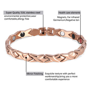 4 in 1 Magnetic Bracelet with Germanium FIR in Three Colors