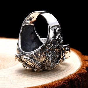 925 Sterling Silver Skull Ring with Adjustable Size - Innovato Store