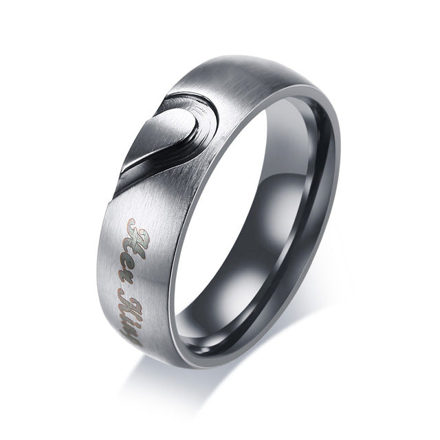 His Queen & Her King Tungsten Couple Wedding / Engagement Ring with CZ Stones