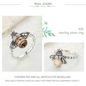 925 Sterling Silver Queen Bee Ring Women's Jewelry
