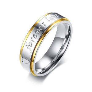 6mm Elegant Expressional Romantic Stainless Steel Couple Wedding Rings - Innovato Store