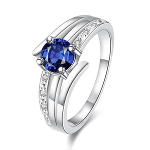 11mm 925 Silver Plated Cubic Zirconia Crystal Unisex Engagement Wedding Band - Innovato Store