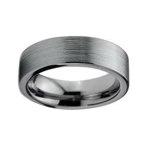 6mm Unisex Pipe Cut Brushed Finish Tungsten Carbide Rings - Innovato Store